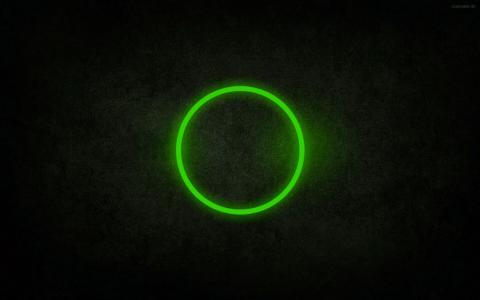 绿色圆圈壁纸
