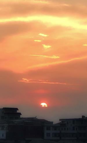 夕阳西下唯美风光