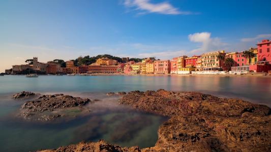 浪漫的意大利港口