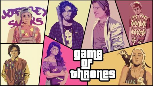 GTA 5游戏的权力交叉高清壁纸