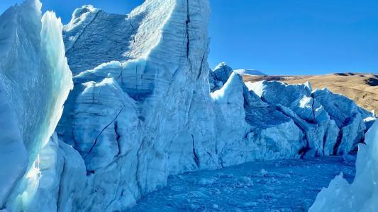 冰川优美迷人风光