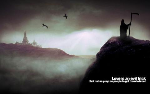 爱是邪恶的把戏墙纸