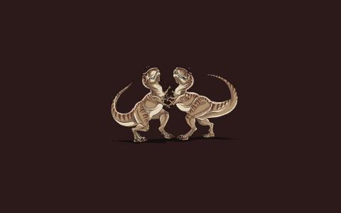 有趣的恐龙扑灭壁纸