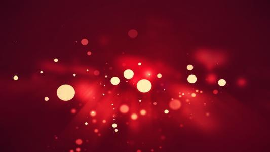 白色的小圆点红色背景高清壁纸