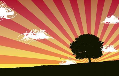 抽象日落壁纸