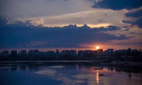 夕阳西下唯美迷人景观