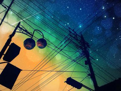 动漫夜空的天空壁纸