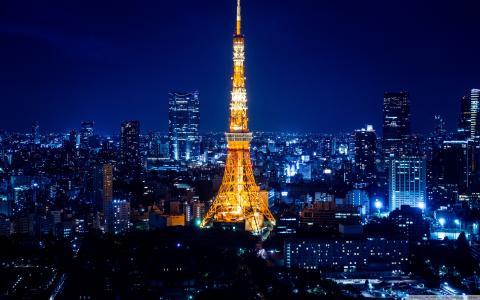 东京在晚上壁纸