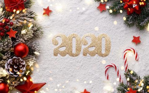 2020新年创意数字