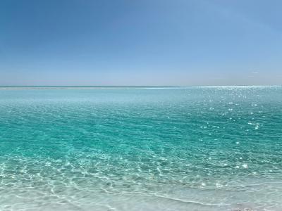 蔚蓝色的大海清新风光