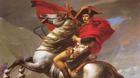 拿破仑骑着马高清壁纸