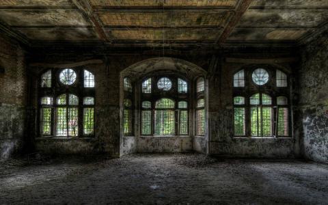 被遗弃的建筑物墙纸