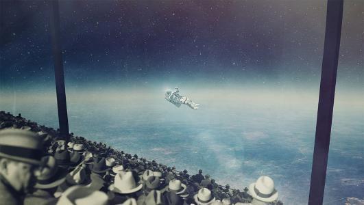 宇航员在太空壁纸