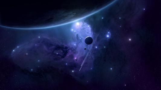 3D太空现场高清壁纸
