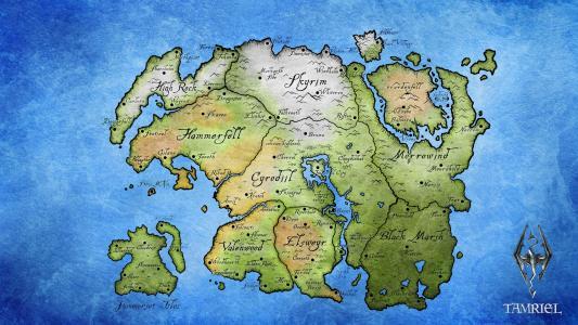 Tamriel地图壁纸