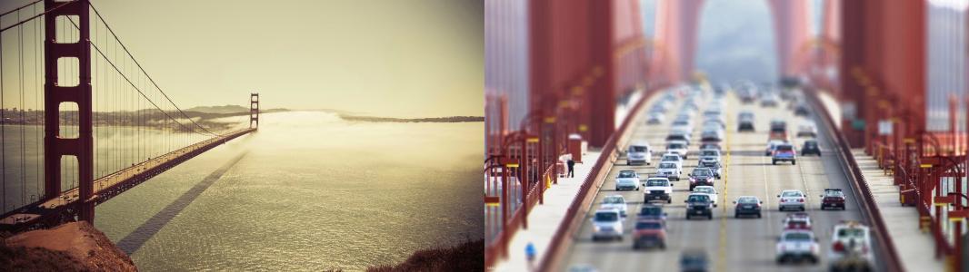 金门大桥双屏幕壁纸