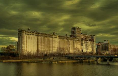 老工业建筑壁纸