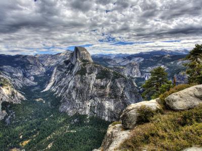 优胜美地国家公园HDR壁纸