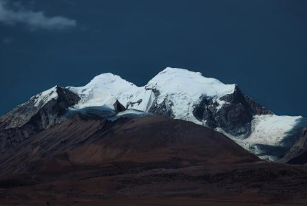 拉萨雪山优美风光