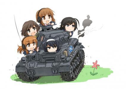 女孩和Panzer壁纸