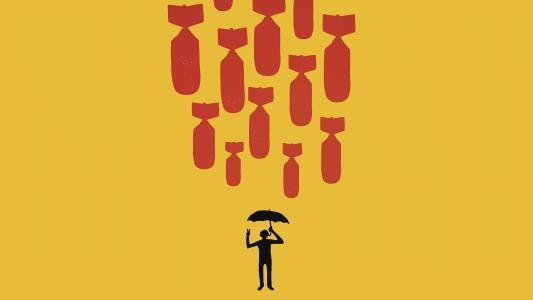 下雨炸弹高清壁纸