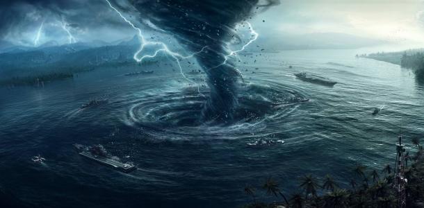 海漩涡龙卷风壁纸