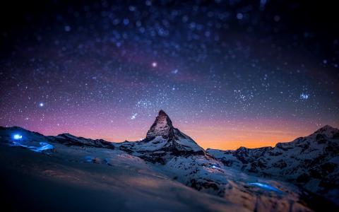 清楚的夜空与星星壁纸