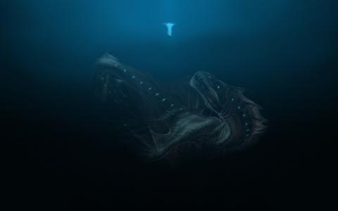 巨大的海生物壁纸