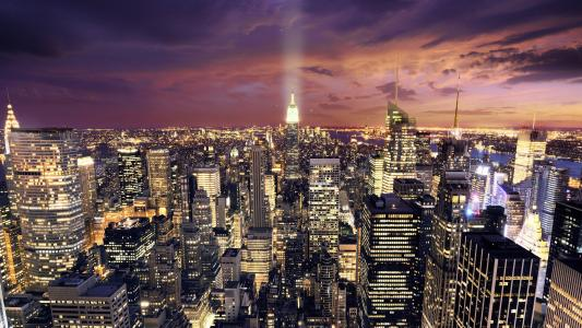 城市在晚上高清壁纸