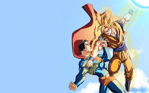 悟空VS超人壁纸