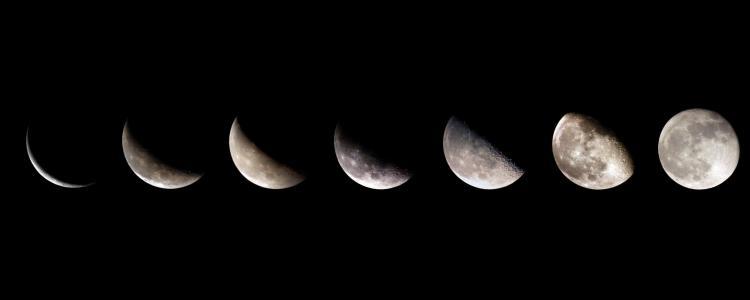 月相双屏幕壁纸
