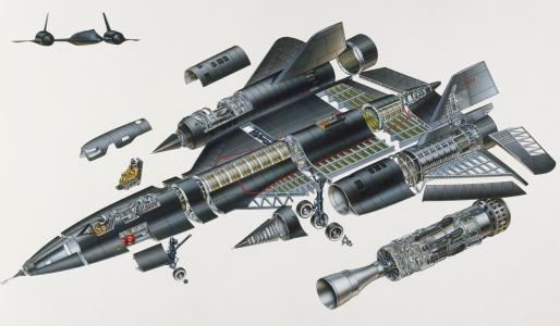 洛克希德Sr-71黑鸟在详细信息壁纸