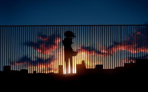 日落女孩壁纸