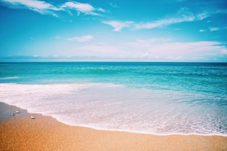 夏日沙滩唯美风光