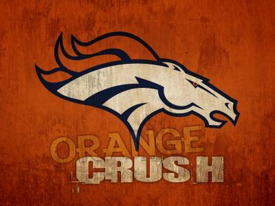 丹佛野马橙色粉碎壁纸