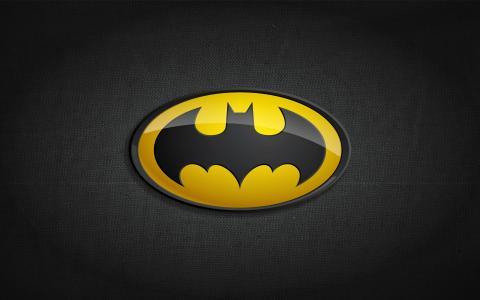 黄色蝙蝠侠标志壁纸