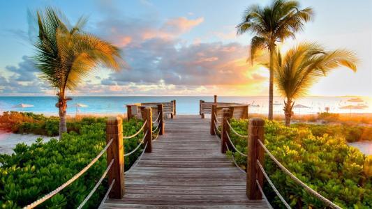 热带海滩高清壁纸