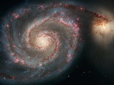 星系碰撞壁纸