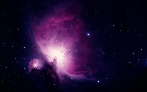 太空上的紫色星云