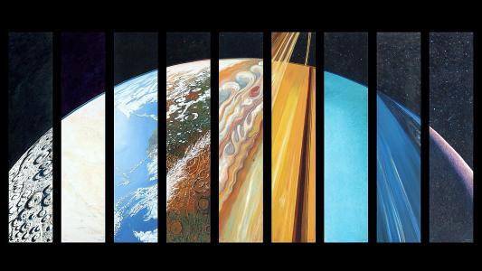 不同种类的行星高清壁纸