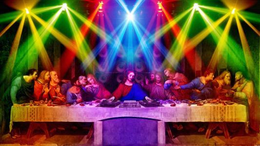 Dj耶稣最后的晚餐壁纸