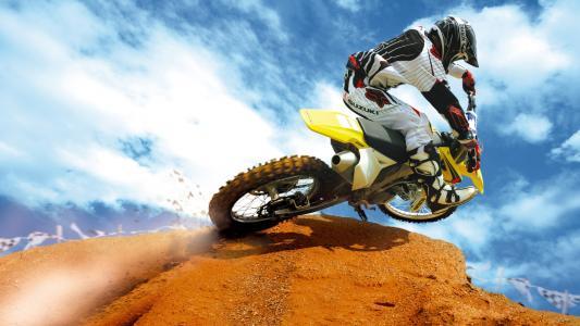摩托车越野赛高清壁纸