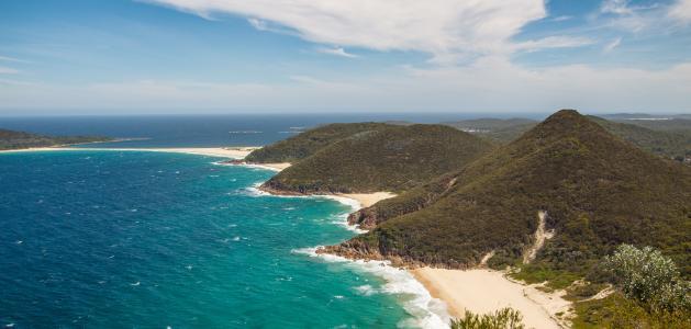 蔚蓝的澳大利亚海岸