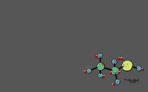 有趣的酒精分子壁纸