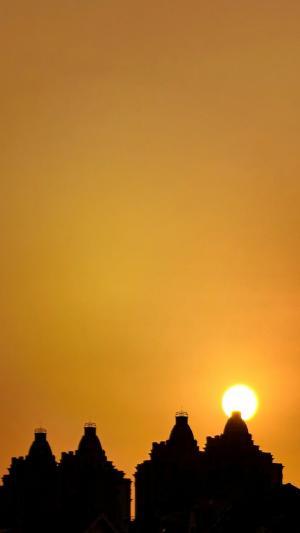 浪漫唯美的黄昏日落景色