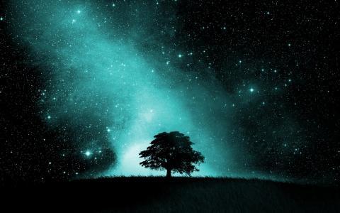 天空充满星星壁纸