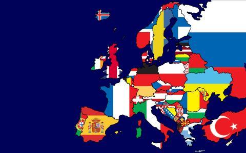 欧洲地图标志壁纸
