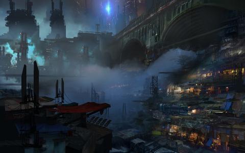 动漫城市风景壁纸