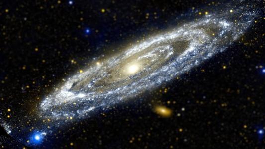 倾斜移动银河高清壁纸