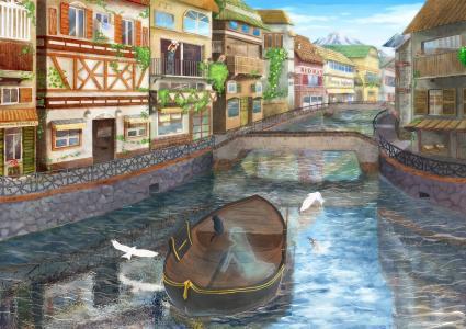 动漫城市景观壁纸